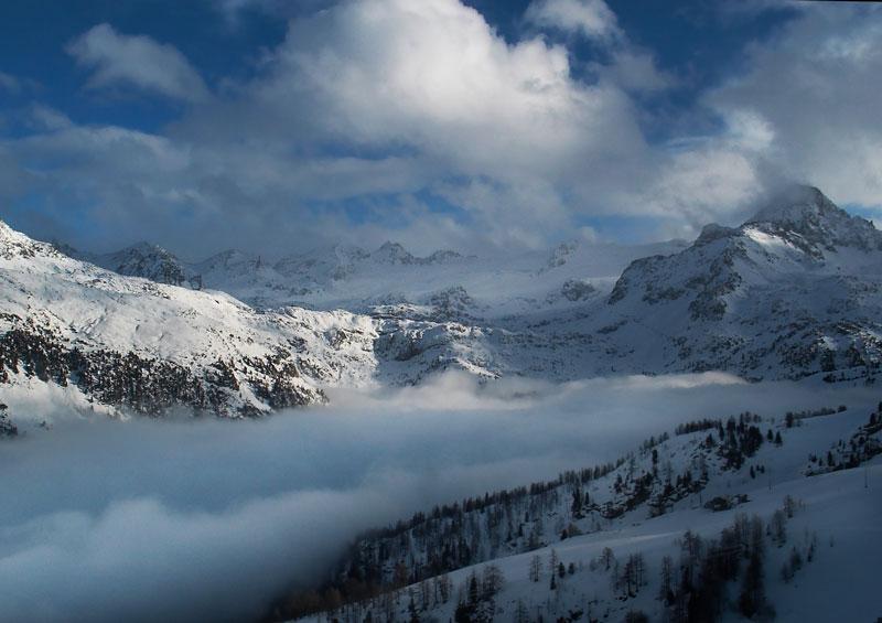 "фото ""Альпы: Заоблачный край"" метки: пейзаж, горы, облака"