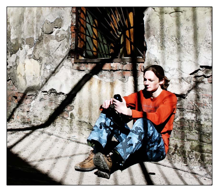 """фото """"Фотограф на привале"""" метки: портрет, жанр, мужчина"""