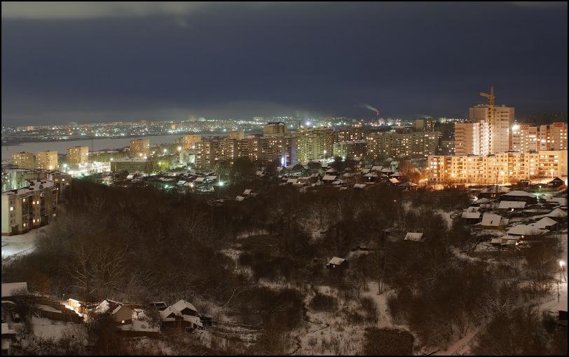 """фото """"Ночной город"""" метки: город, пейзаж, ночь"""
