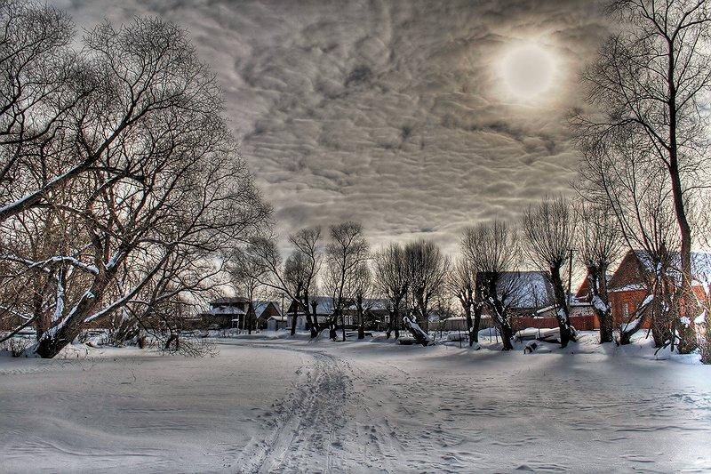 """фото """"Зимняя."""" метки: пейзаж, зима, облака"""