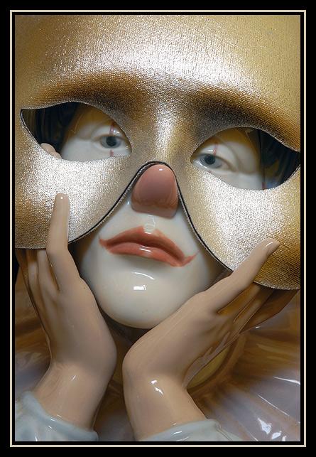 "photo ""The Masked Clown"" tags: still life, portrait, man"