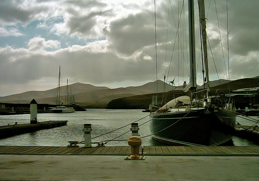 "photo ""Puerto Calero, yacht marina entrance."" tags: landscape, travel, Europe, water"