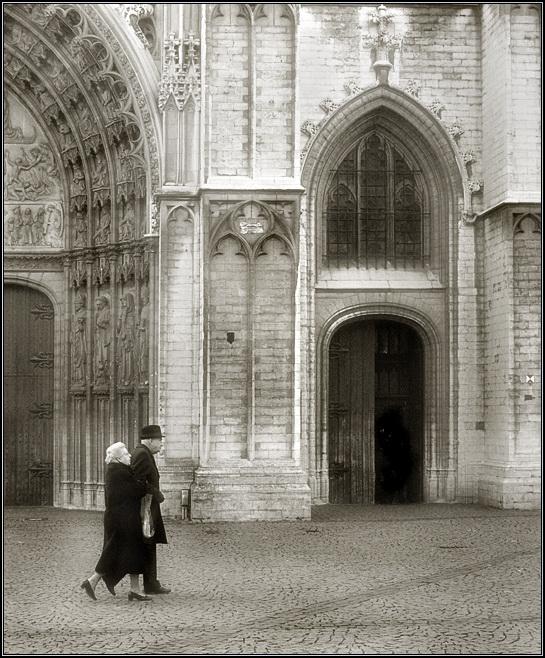 """фото """"К мессе"""" метки: архитектура, черно-белые, пейзаж,"""