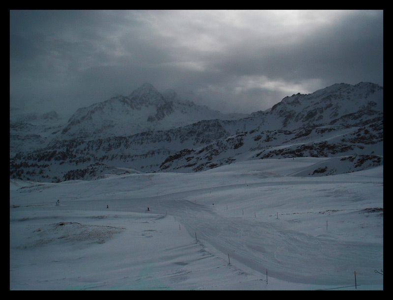 "photo ""Mountain roads"" tags: landscape, mountains, winter"