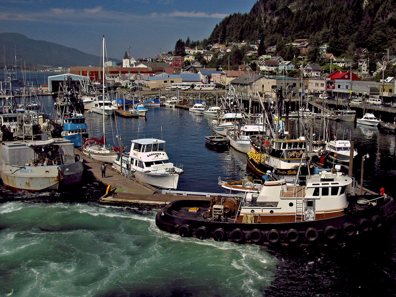 "photo ""Ketchikan fishing harbor"" tags: travel, North America"
