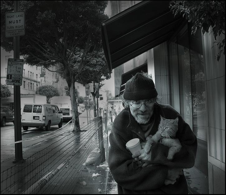 """photo """"Downtown of Los Angeles"""" tags: genre, portrait, man"""