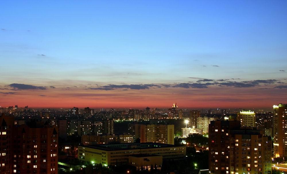 """фото """"Before sunrise"""" метки: пейзаж, панорама, закат"""