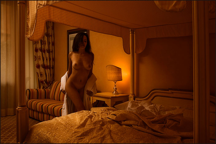 "photo ""bedtime"" tags: nude, interior,"