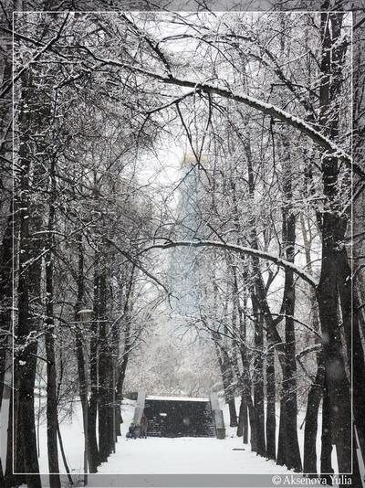 "фото ""Snow in the april."" метки: природа, архитектура, пейзаж,"