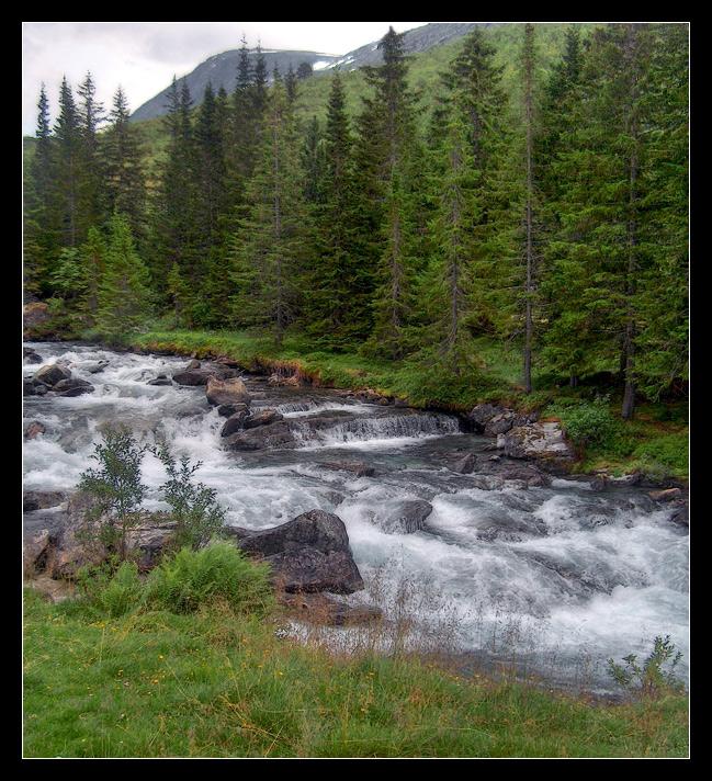 """фото """"Горная река"""" метки: пейзаж, вода, осень"""
