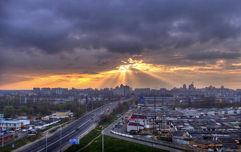 """фото """"Sunrise in city"""" метки: ,"""