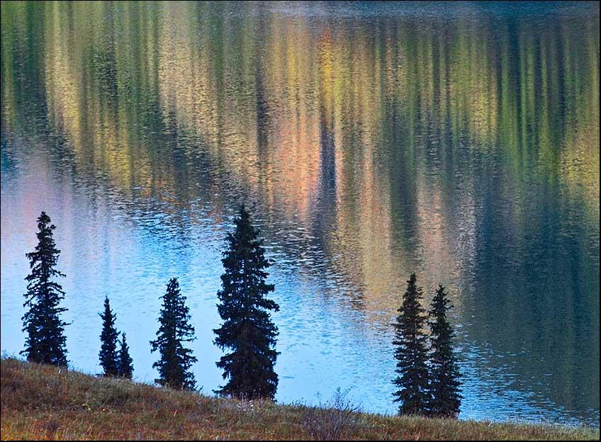 """фото """"Несеверное сияние"""" метки: пейзаж, вода, горы"""