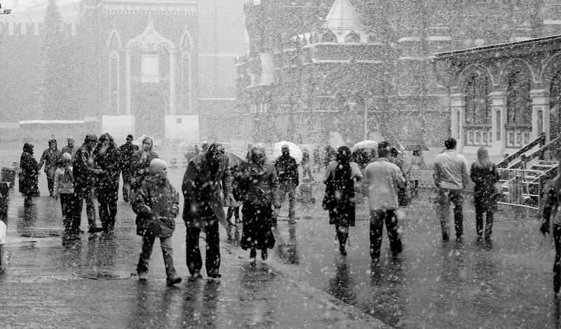 """фото """"Апрельский снегопад"""" метки: репортаж, город,"""