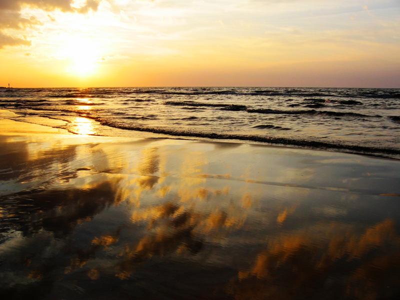 """фото """"золото Балтики"""" метки: пейзаж, закат"""