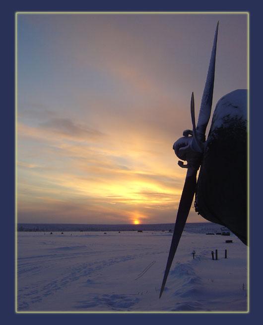 """фото """"Фото к книге В.Каверина """"Два капитана"""""""" метки: пейзаж, закат, зима"""