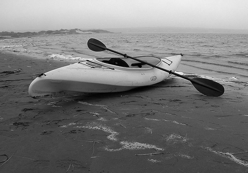"photo ""...hesitation..."" tags: landscape, black&white, water"