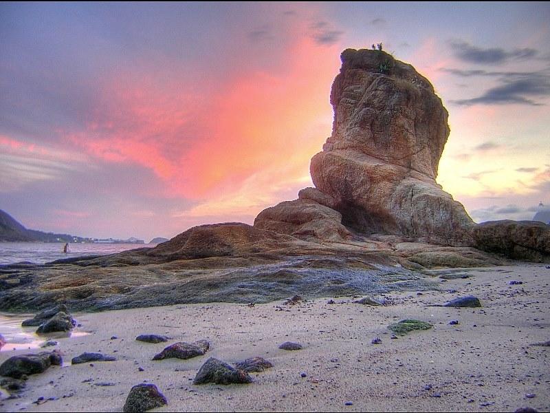 "фото ""Itapuca Rock at twilight"" метки: пейзаж, техника, вода"