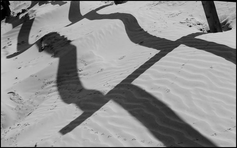 """фото """"Песочная ограда."""" метки: разное, черно-белые,"""