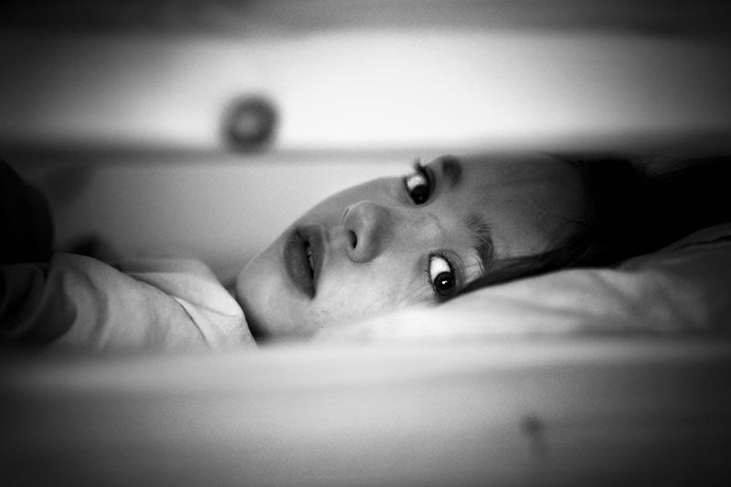 """photo """"Buona notte"""" tags: portrait, black&white, children"""