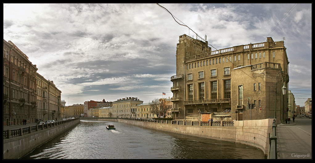 """photo """"Leningrad. Palace of Telecommunications workers"""" tags: architecture, landscape,"""