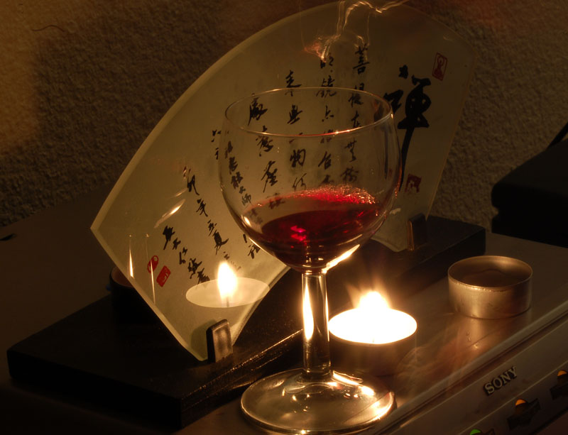 """photo """"wine&candle"""" tags: ,"""