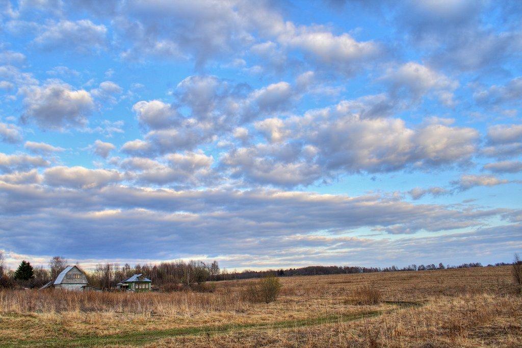 """фото """"Хутор"""" метки: пейзаж, весна, облака"""