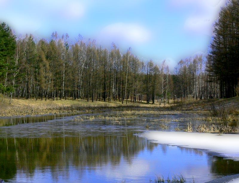 """фото """"проводы зимы"""" метки: пейзаж, весна, вода"""