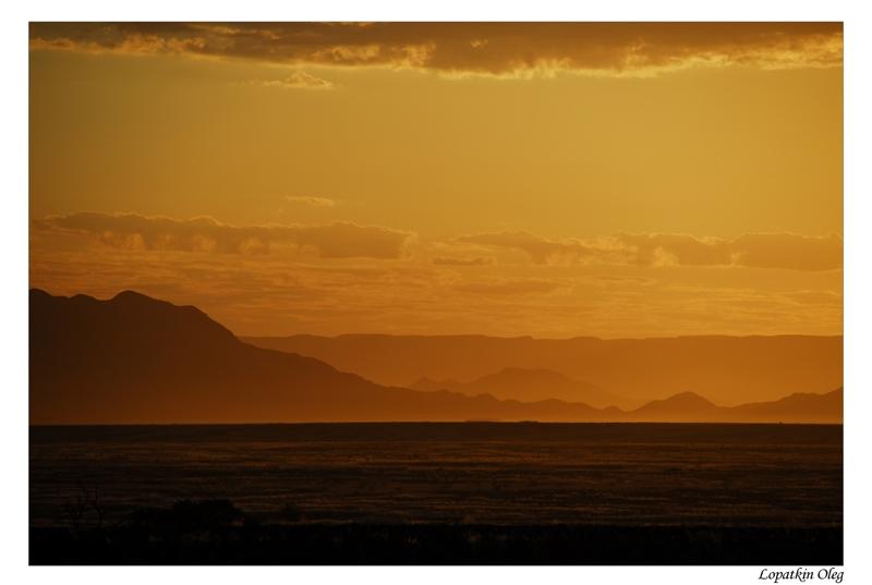 """фото """"Namibian sunrise"""" метки: пейзаж, путешествия, Африка, закат"""