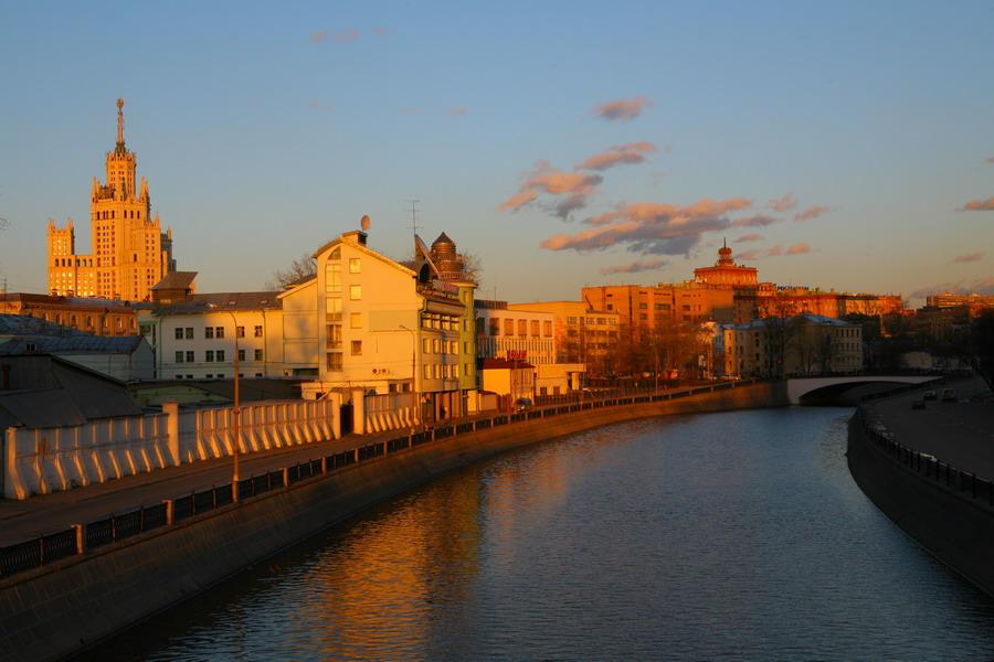 """фото """"Восемь вечера"""" метки: пейзаж, архитектура, закат"""