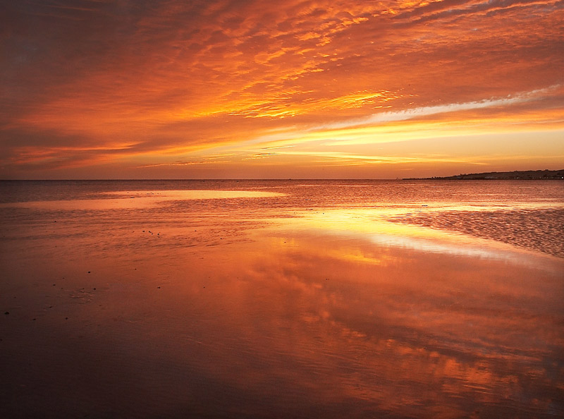 "photo ""S V"" tags: landscape, sunset, water"