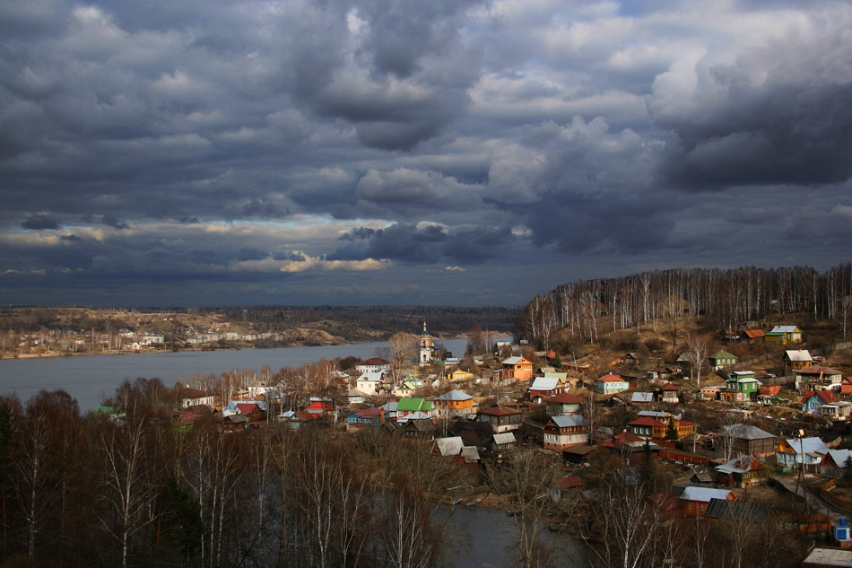 """photo """"Оа the Volga expance"""" tags: landscape, clouds"""