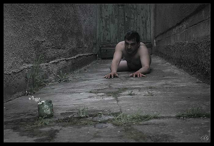"photo ""Inaccessible road"" tags: portrait, nude, man"