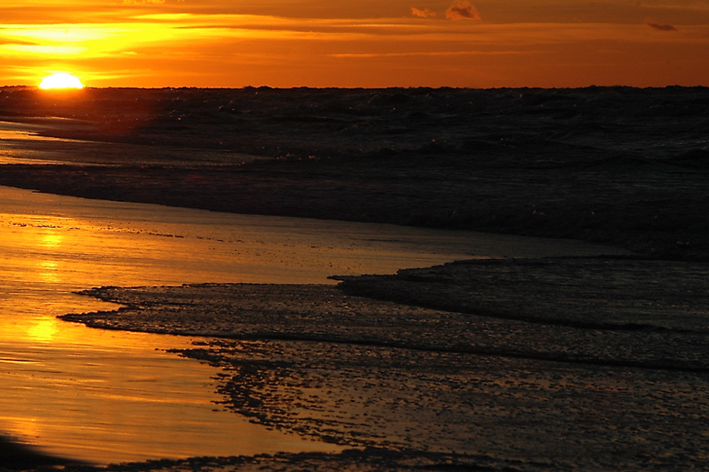 """photo """"...wave goodbye and..."""" tags: landscape, sunset, water"""