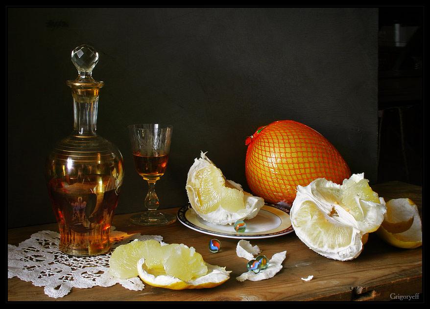 "photo ""Half-glass of brandy"" tags: still life,"