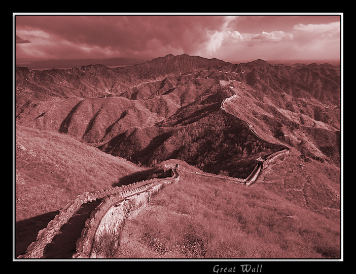 """photo """"Great Wall"""" tags: architecture, landscape, mountains"""