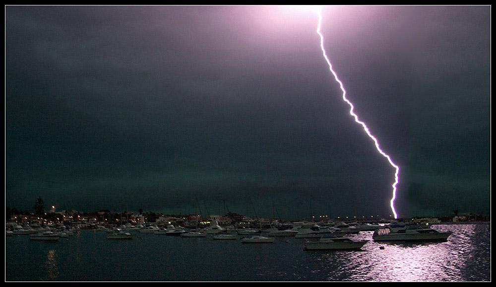 "photo ""Storm over Punta del Este"" tags: landscape, travel, South America, water"
