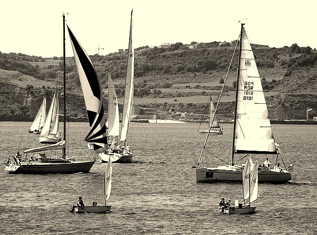 "photo ""A Boat Race."" tags: nature,"