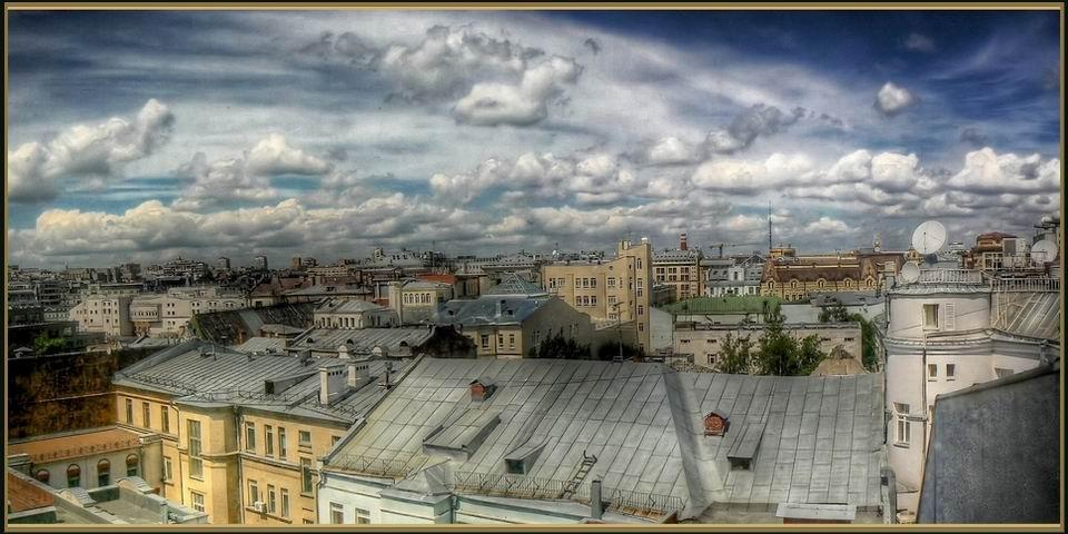 """фото """"Крыши Москвы"""" метки: панорама,"""