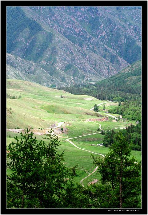 """фото """"Горная дорога"""" метки: пейзаж, горы"""