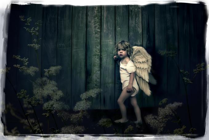 "фото ""Heaven can wait..."" метки: портрет, фотомонтаж, дети"