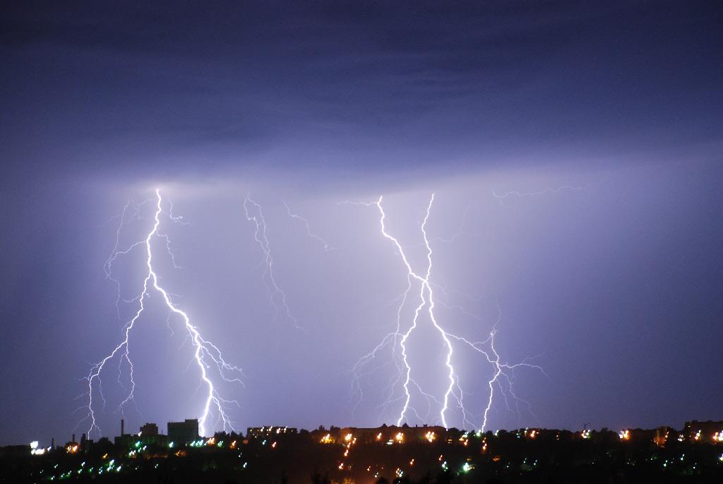 """фото """"...стихия над городом..."""" метки: пейзаж, ночь"""