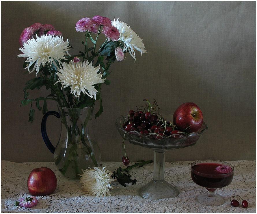 "фото ""Хризантемы."" метки: натюрморт,"