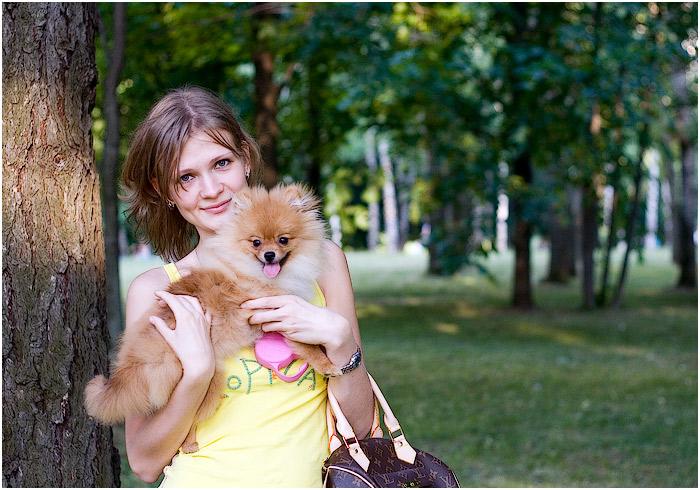 "фото ""Дама с собачкой"" метки: портрет, женщина"
