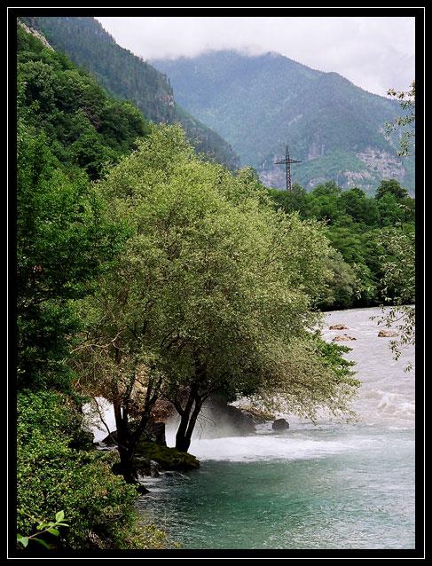 """фото """"Горная река"""" метки: пейзаж, вода, горы"""