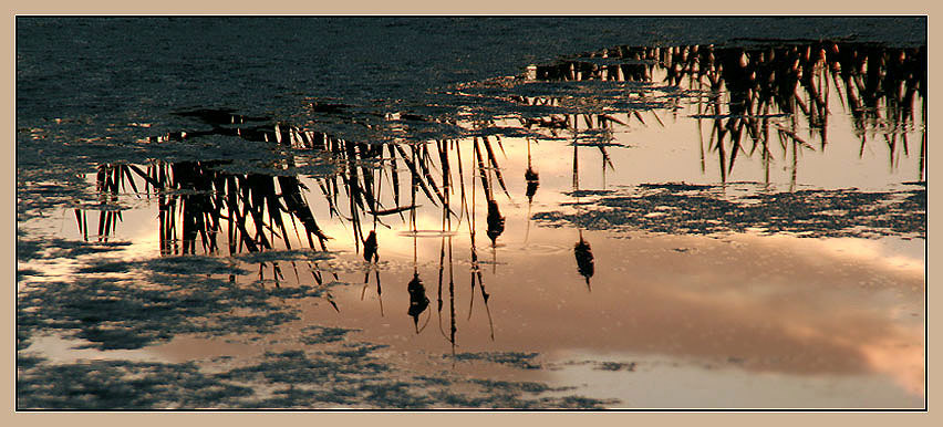 "фото ""Ночное зеркало"" метки: пейзаж, вода, закат"