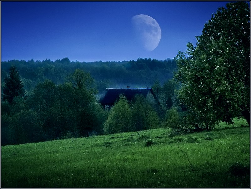 "фото ""Лунная фантазия"" метки: пейзаж, фотомонтаж,"