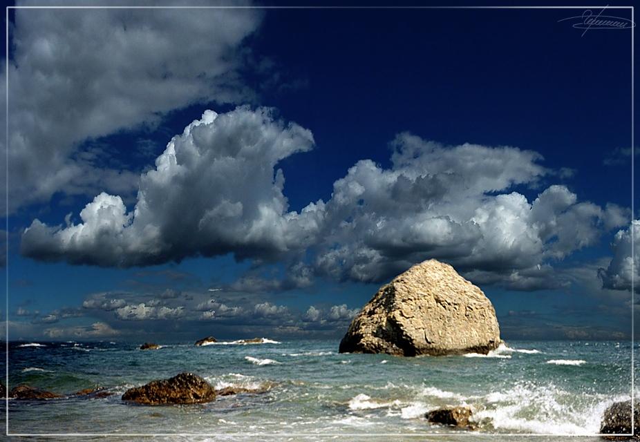 """фото """"Золотой."""" метки: пейзаж, вода, облака"""