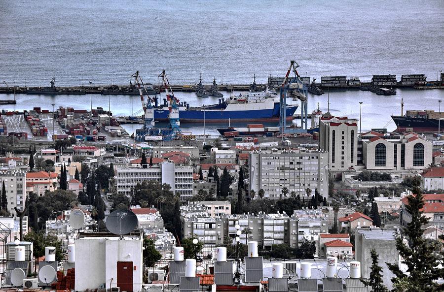 """фото """"Городской пейзаж с корабликом"""" метки: путешествия, пейзаж,"""