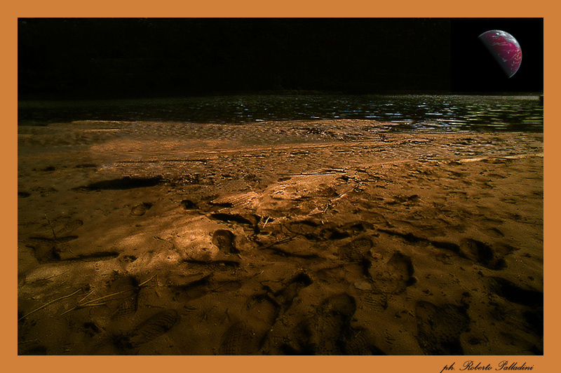 "фото ""Nocturne on the river."" метки: пейзаж, фотомонтаж,"
