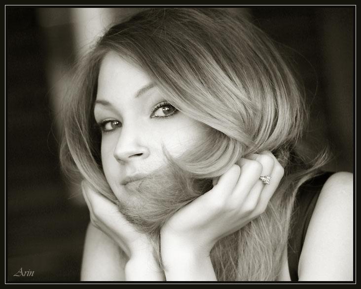 "фото ""Аня"" метки: портрет, черно-белые, женщина"
